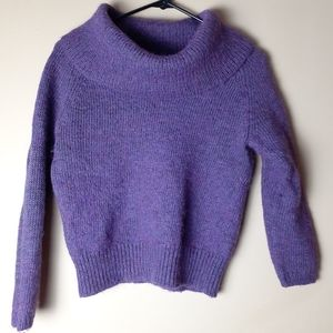 Chico size 0 cowl neck wool blend putple sweater